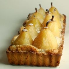 French Pear Tart.  we have a pear tree so this is fun