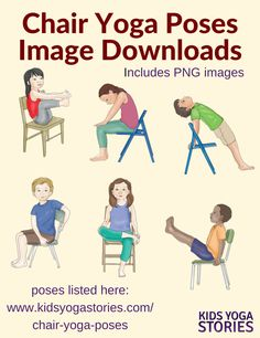 39 Chair Yoga Poses for Kids PNG Images