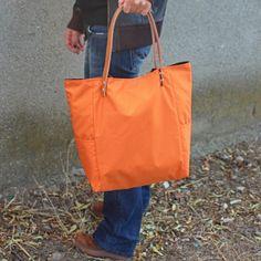 Bolsos de asa larga -  Bolso impermeable - Naranja óxido - Maxibolso - hecho a mano por LoLahn-Handmade en DaWanda