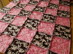 horse quilt patterns | Quilting Ideas | Project on Craftsy: Rag quilt
