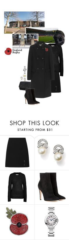 """""""Untitled #2293"""" by duchessq ❤ liked on Polyvore featuring Le Kilt, Vanessa Bruno, Emmy London, Gianvito Rossi and Cartier"""