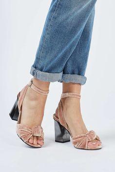 ROCKSY Spot Velvet Sandals - Shoes- Topshop
