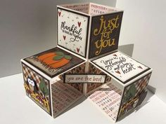 Fall Pop Up Cube Card – Stamping Tips And Tricks, Fancy Fold Cards, Folded Cards, Cubes, Pop Up, Cool Cards, Scrapbooking Layouts, Birthday Cards, Christmas Cards