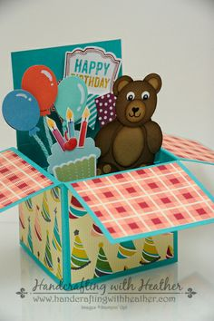 Birthday Basics Card in a Box by hvanlooy - Cards and Paper Crafts at Splitcoaststampers