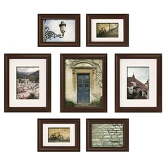 Morell Blackstone 7 Piece Gallery Snapshot Picture Frame Set - Turn an empty wall into a personal gallery space to showcase your most adorned moments with our 7 P - Wall Frame Set, Picture Frame Sets, Frames On Wall, Picture Placement On Wall, Frame Placement, 10 Frame, Wal Art, Gallery Wall Layout, Frame Gallery