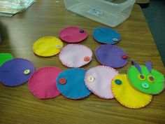 ot button practice | Felt Button Caterpillar This is a buttoning practice activity. There ...