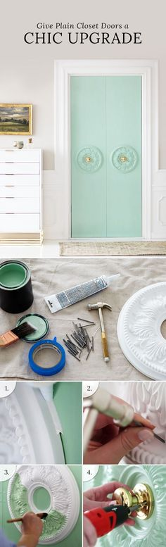 The Clever DIY That Makes Plain Closet Doors Look Like a Million Bucks