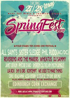 All Saints to Headline SpringFest, Scotland's Newest Music FestivalWithGuitars
