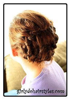 Girly Dos By Jenn: Easy, Beautiful Updo - Multiple Waterfall Braids braided together.