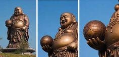 Gran Buda Maitreya, Taiwán El Gran Buda Maitreya, que se eleva por encima de la orilla del lago cerca de Emei Beipu en Xinzhu County, Taiwan, no encaja exactamente en el molde de las esculturas altas y elegantes