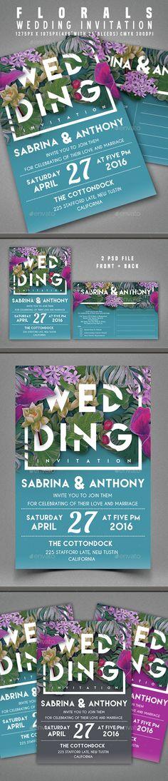 Wedding Invitation Template PSD. Download here: http://graphicriver.net/item/wedding-invitation/15373693?ref=ksioks