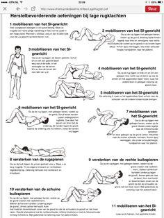 Oefeningen voor de lage rugspieren