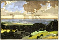 Edward Loxton Knight (1905-1993) Nottingham Castle, Sumi Ink, Color By Numbers, Art Sites, Number Two, Japanese Prints, Art Studies, Woodblock Print, Printmaking