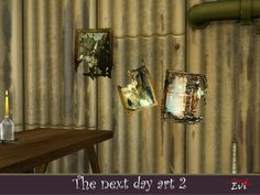 evi's The Next Day Art 2 Next Day, The Next, Sims Community, Sims Resource, Electronic Art, Sims 4, Wall Lights, Poster, Creepy