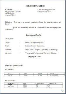Short Resume Format Successful Resume Templates Sample Templateexcellent Curriculum