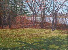 Gordon Lewis - Walking Through Wascana 36 x oil/canvas Canadian Prairies, Vivid Colors, Colours, Landscape Paintings, 3 D, Walking, Canvas, Gallery, Artist