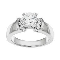 IGL Certified Diamond Engagement Ring in 14k White Gold (1 1/5 Carat T.W.)