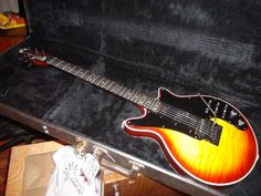 1985 Guild BHM235 Brian May HONEY SUNBURST QUILT Red Special Limited run of 300 #Guild