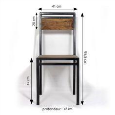 chaise industrielle métal bois