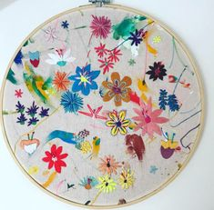Wild flowers Hand painted and hand sewing