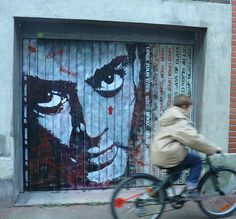 Jef Aérosol : Paul Auster (stencil / pochoir) by Jef Aerosol, via Flickr