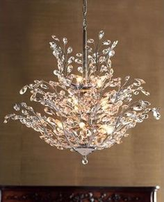 "dining room lighting option  ""Upside Down"" Crystal Chandelier  - traditional - chandeliers - Horchow"
