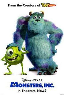 Monsters, Inc. is a 2001 American computer-animated comedy film directed by Pete Docter, released by Walt Disney Pictures, and the fourth film produced by Pixar Animation Studios. Film Pixar, Pixar Movies, All Movies, Great Movies, Movies To Watch, Amazing Movies, Family Movies, Popular Movies, Movies Online