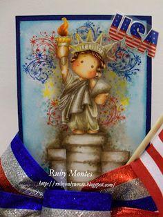 Copics,Letrasets, Ruby Montes, Magnolia, Freedom Liberty Tilda, http://rubyonlywrote.blogspot.com/