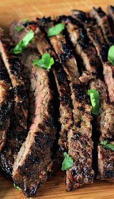 Grilled Fajita Skirt Steak. This looks AMAZING.