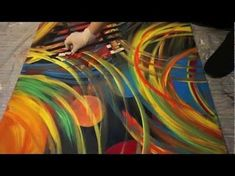 ▶ Abstract Art Painting, Acrylic Painting with Painting Knife, Colorful, Abstrakte Malerei - YouTube