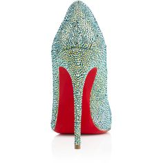 Christian Louboutin So Kate Strass ($3,995) ❤ liked on Polyvore featuring shoes, pumps, sexy shoes, sexy high heel pumps, pointy-toe pumps, sexy high heel shoes and high heel pumps