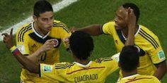 James Rodríguez y Juan Guillermo Cuadrado #YoCreo en #Colombia #FuerzaColombia #VamosColombia   #Brasil #MundialBrasil2014 #Brasil2014