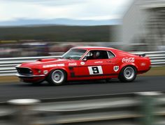 The Trans Am Ford Mustang of Allan Moffat that has a winning rate of 101 wins from 151 races.