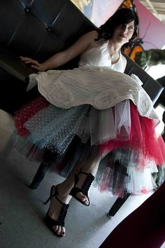 colorful crinoline, the perfect finishing touch to a fabulous dress