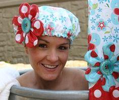 cute shower cap!