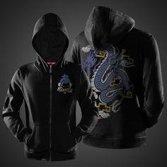 Overwatch Hanzo Hero Sweat Shirts Black Full Zipper Hoodies Mens