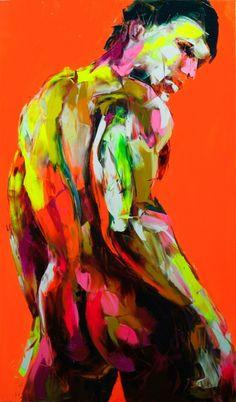 Françoise NIELLY. Orange nudes 559.