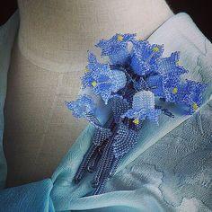 つりがね草のボリュームビーズブローチ #カザリ咲色 #ビーズ #ビーズフラワー #販売 #ネットショップ #ビジュー  #ファッション #ハンドメイド #コサージュ #手作り #アクセ #手芸 #アクセサリー #bead #beads #bijou #beading #beadsflower #beadswork #beadwork #beadsph #bijoux #biser #corsage #cute #handmade #instafashion #instashop #instagood