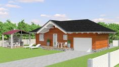 5 X 12 floor plans and elevations House SPF 006 SuperFloorPlans. Small Bungalow, Bungalow House Plans, Wooden House Plans, Shed, Floor Plans, Outdoor Structures, Cabin, Flooring, How To Plan