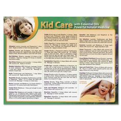 1218 - Kid Care with Essential Oils Chart (Size:  8 1/2 x 11)