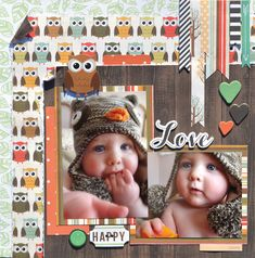 Charming Little Owl -Echo Park Fall Fever collection