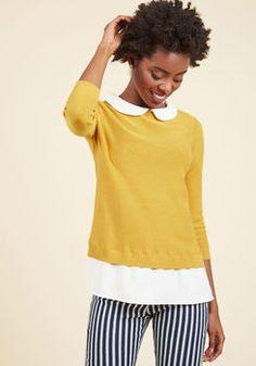 Classroom Charisma Sweater in Saffron