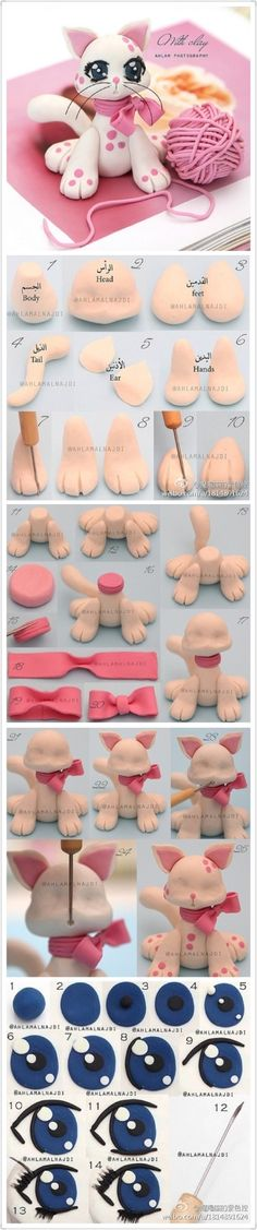 Clay Tutorial: cute cat