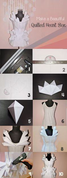 Make a cool geometric paper dress - full tutorial!