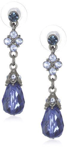 "1928 Jewelry ""Blue Bayou"" Jet Montana Drop Earrings 1928 Jewelry. $18.00. Made in China"