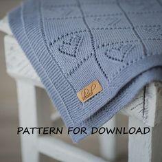 Knit Baby Blanket Pattern Knitting Pattern for Babies by belovedLT