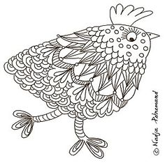 cocotte de pâques à colorier