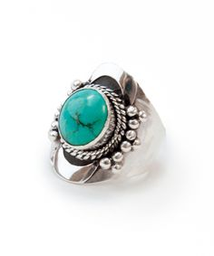 Celestial Gathering ▿ Turquoise. Authentic Tibeten Silver Ring. Hand-made by using .925 sterling silver setting and genuine stones. (http://artefactscollection.com/celestial-gathering-turquoise/)