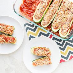 These chicken sausage-stuffed zucchini boats are the perfect low-cal dinner for your family!