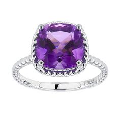 Birks Collection, Amethyst Ring, in Sterling Silver